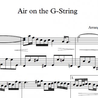 Air on the G String - Johann Sebastian Bach - Piano