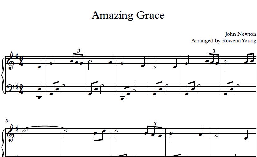 Amazing Grace [Advanced Version] - John Newton - Piano | notestoreUK