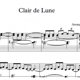 Clair de lune - Claude-Achille Debussy - Piano