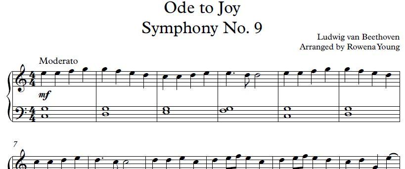 Ode to Joy (Symphony No  9 in D minor) - Ludwig van